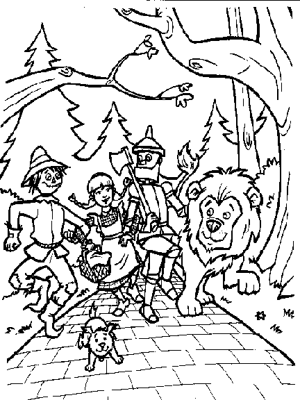 432x576 Breakthrough Wizard Of Oz Coloring Pages Scarecrow Tin Man Dorothy