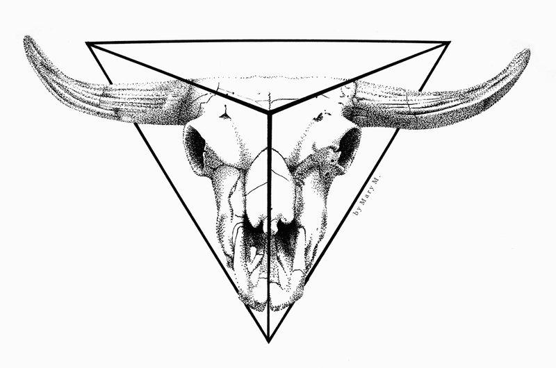 800x530 Dot Art Animal Skull By Marymonsterdoll