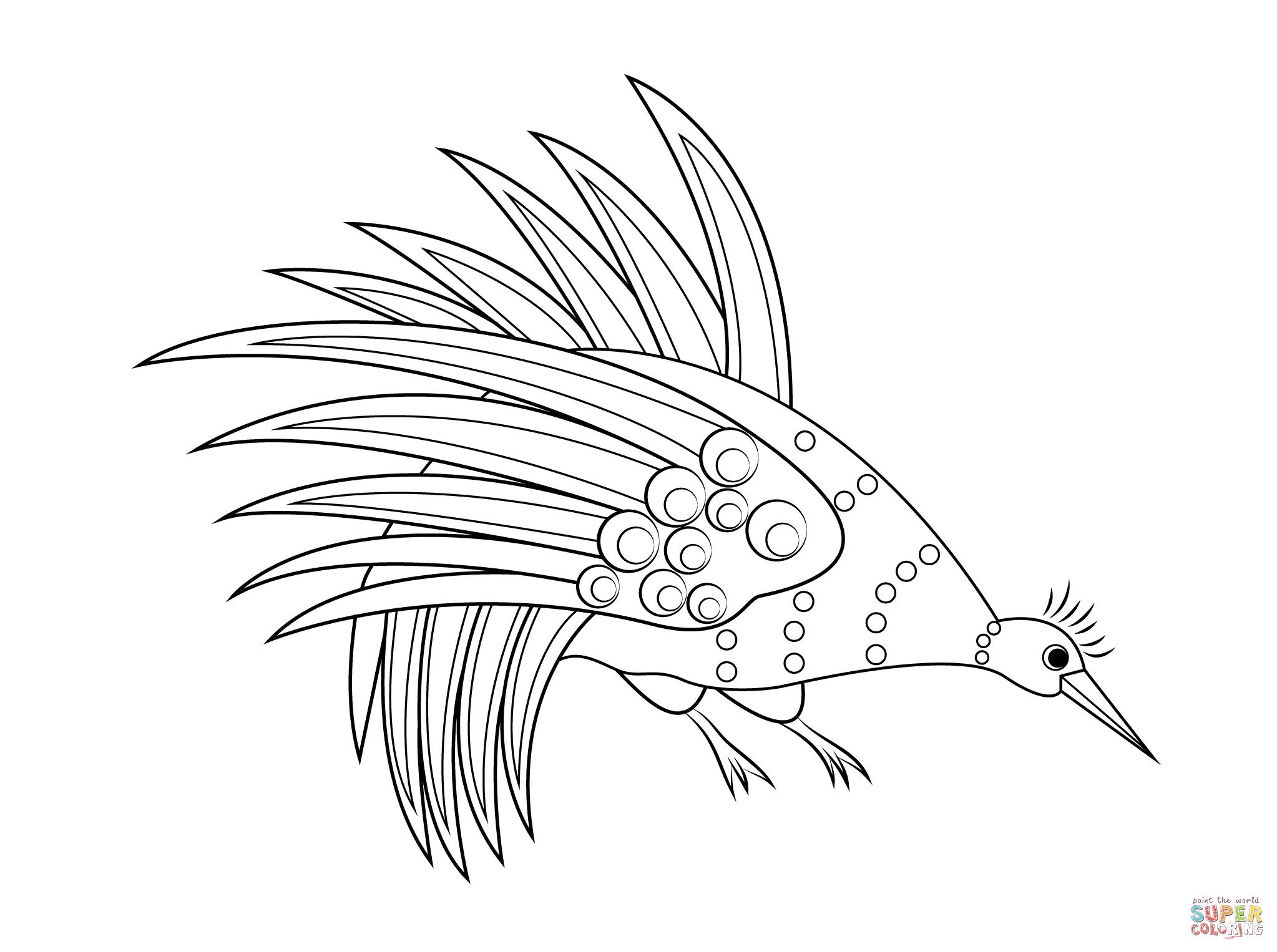 2046x1526 Rainbow Bowerbird Aboriginal Art Coloring Page Free Printable