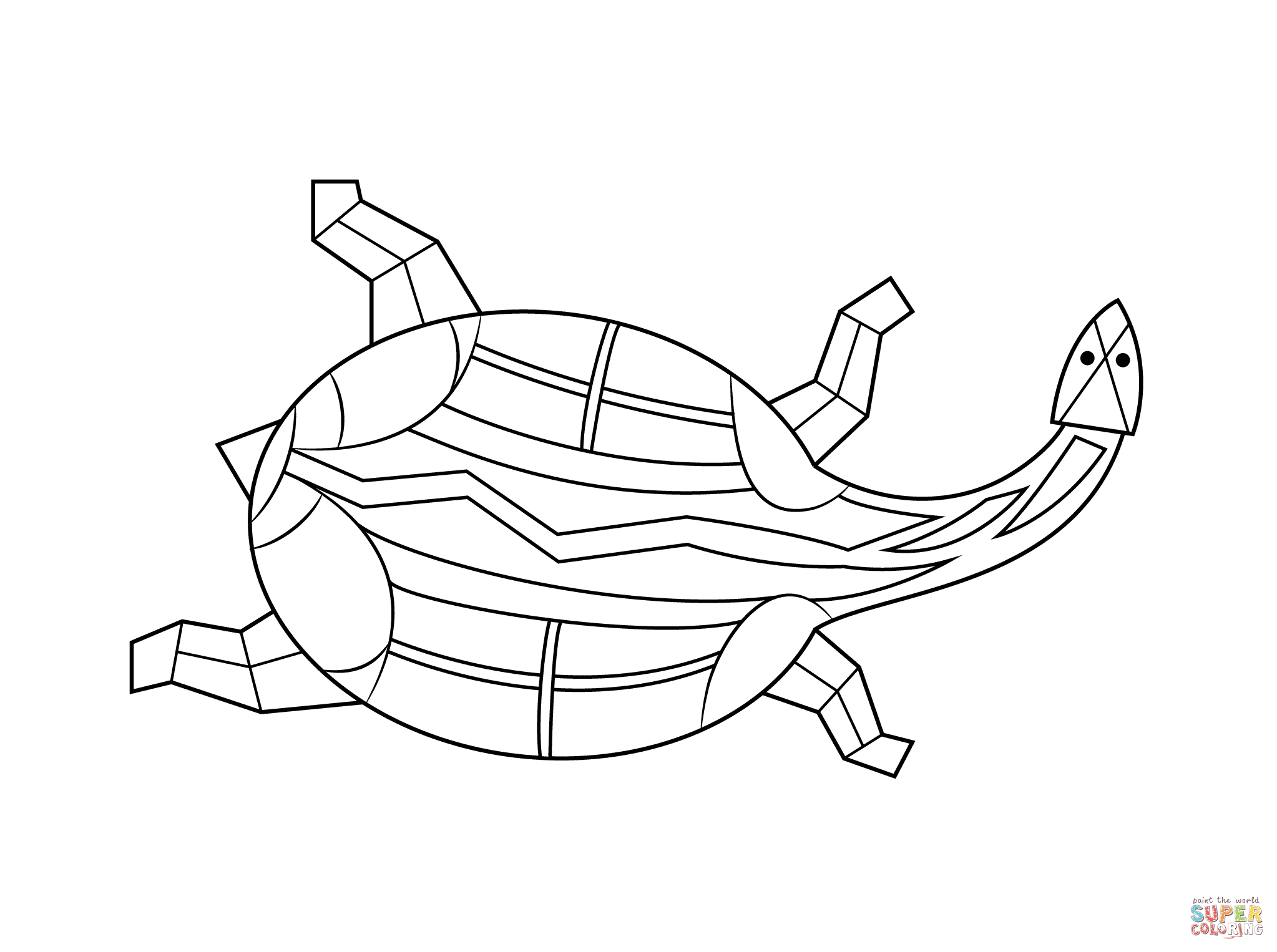 2046x1526 Aboriginal Painting Of Turtle Coloring Page Free Printable