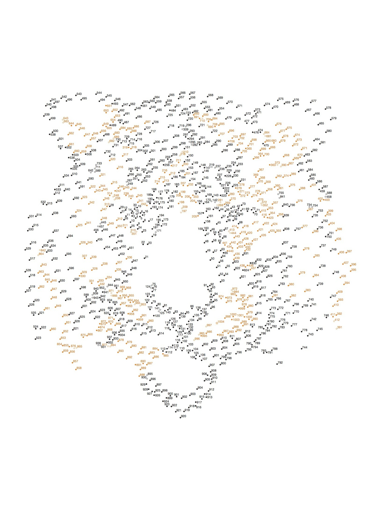 1200x1677 Dot to Dot Animal Face