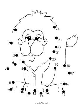 281x364 Printable Lion Dot To Dot Puzzle
