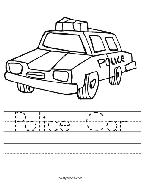 468x605 Police Car Worksheet