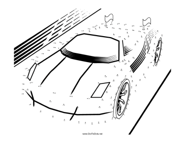 364x281 Printable Sports Car Dot To Dot Puzzle