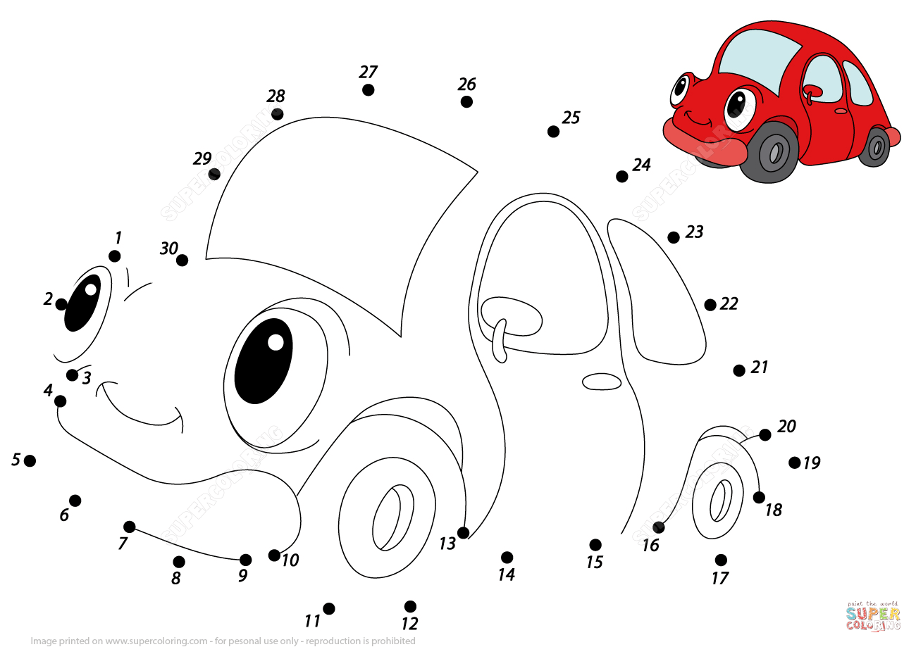 Dot To Dot Cars At GetDrawings