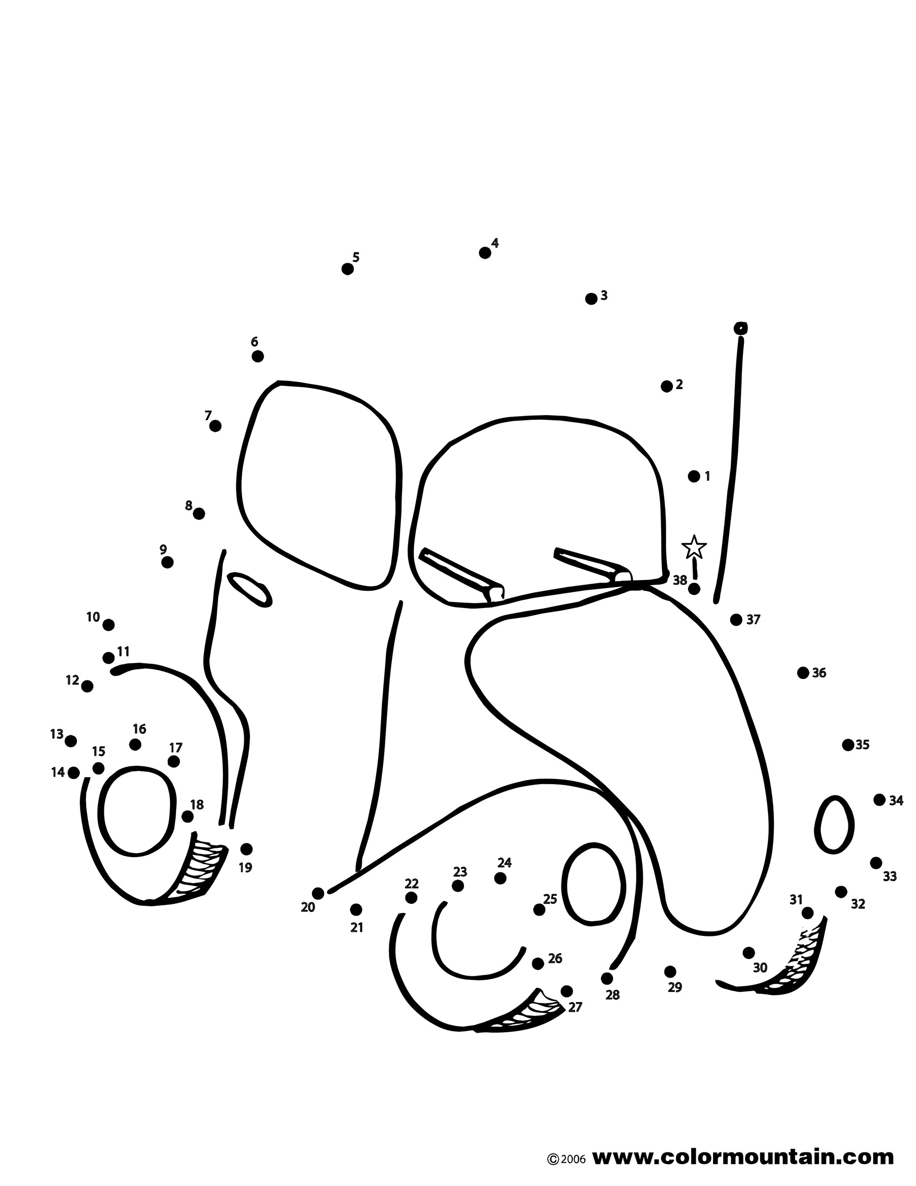 1800x2329 Car Dot To Dot Coloring Activity