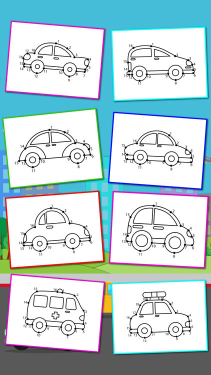 422x750 Cars Connect The Dots And Coloring Book