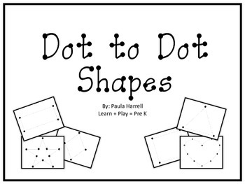 350x263 Dot To Dot Shapes By Paula Harrell Teachers Pay Teachers