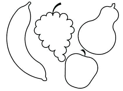 422x312 Fruits Shapes For Coloring Fruits Shapes For Coloring The Hungry