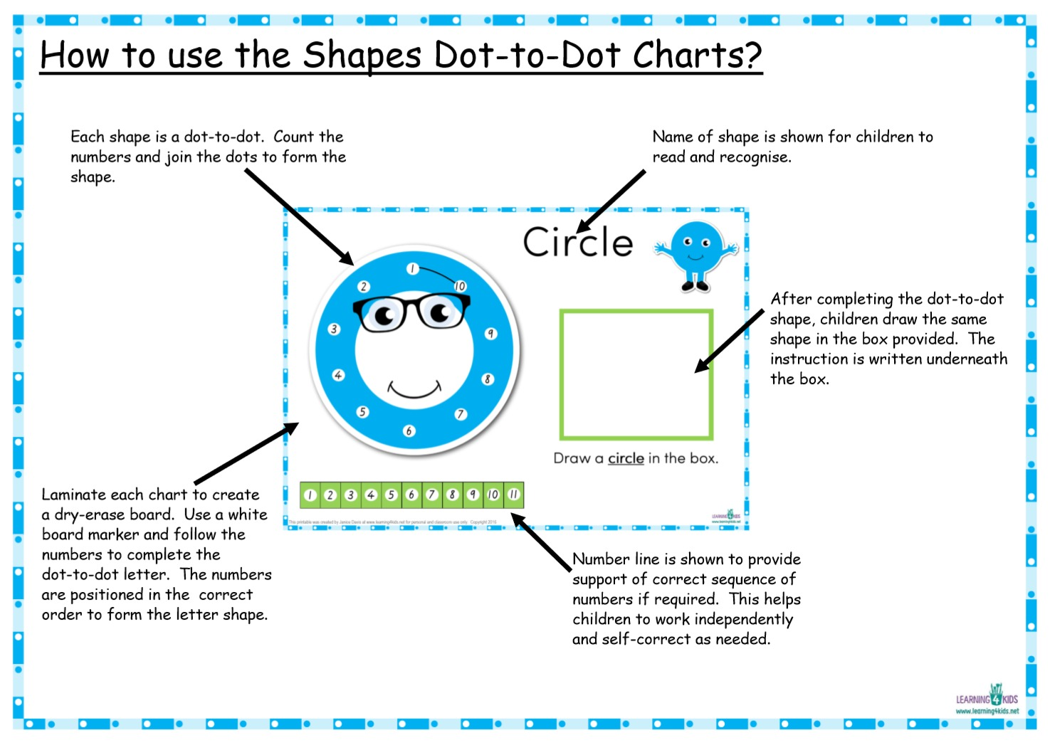 1482x1047 Printable Dot to Dot Shapes Charts Learning 4 Kids