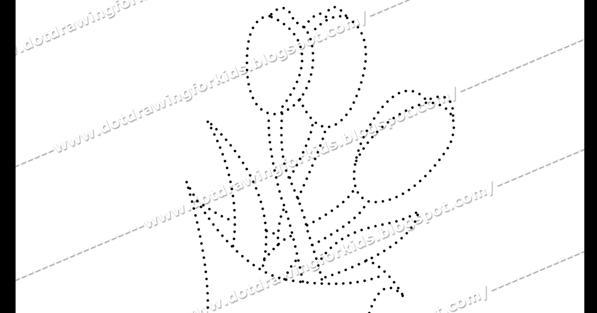1200x630 Dot Drawing For Kids Flower Dotted Drawing, Dotted Drawing, Dot