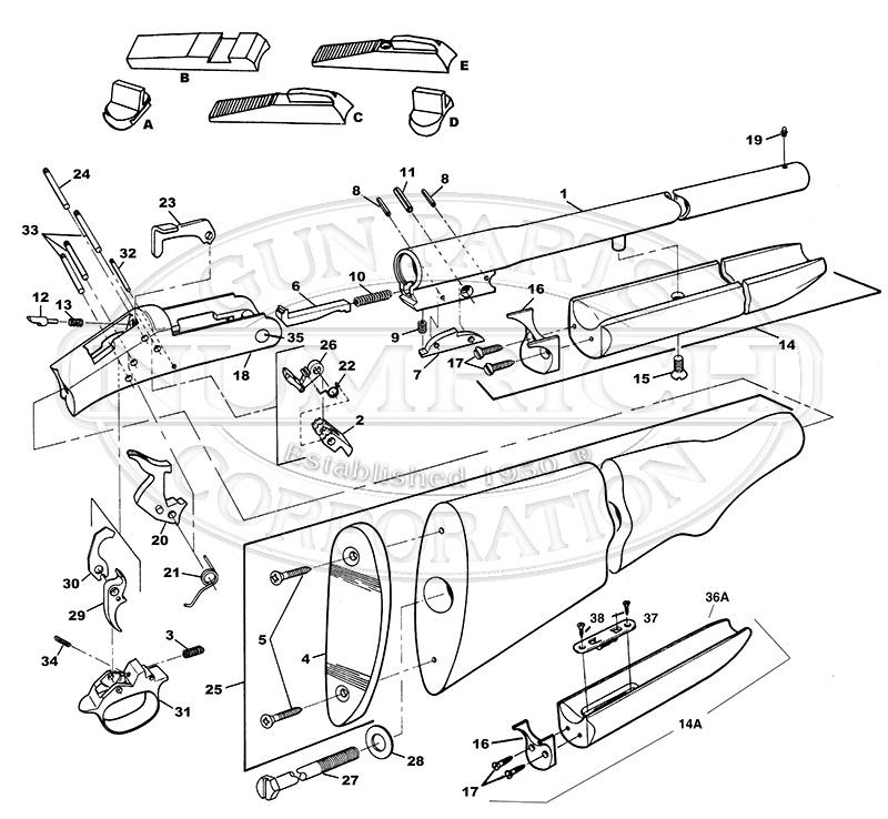 Double Barrel Shotgun Drawing