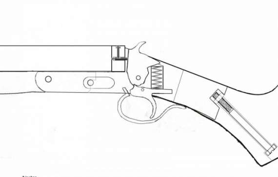 Double barrel shotgun drawing at getdrawings free for personal 570x363 inspiring design homemade shotgun blueprints 14 build a double malvernweather Images
