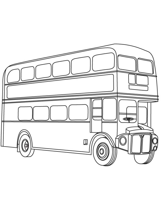 630x810 London Double Decker Bus Coloring Page Download Free