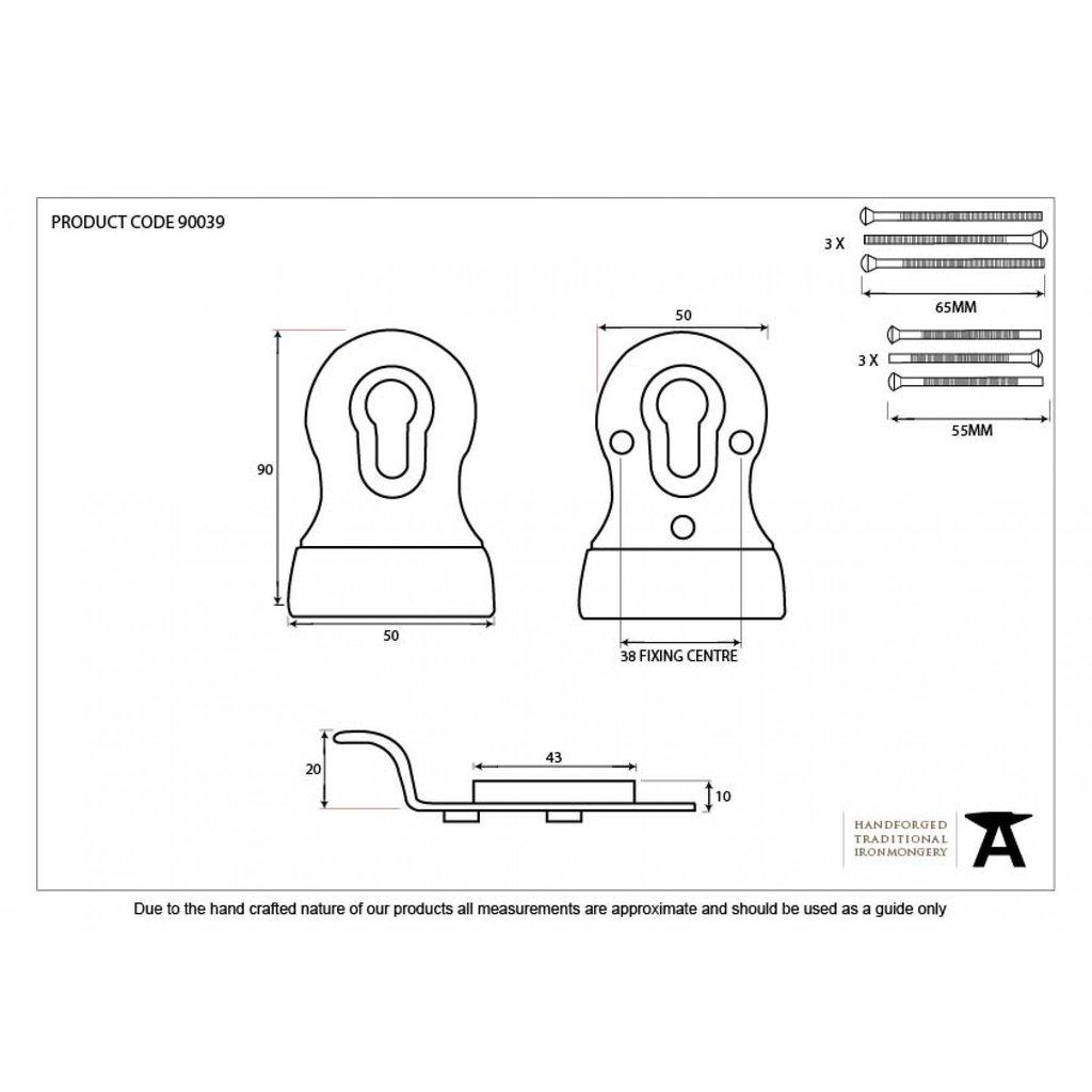 1024x1024 Anvil Black Double Front Door Euro Keyhole Lock Door Pull Atc