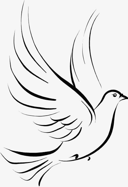 412x600 Hand Painted Dove, Dove Illustrator, Flying Dove, Pigeon Png Image