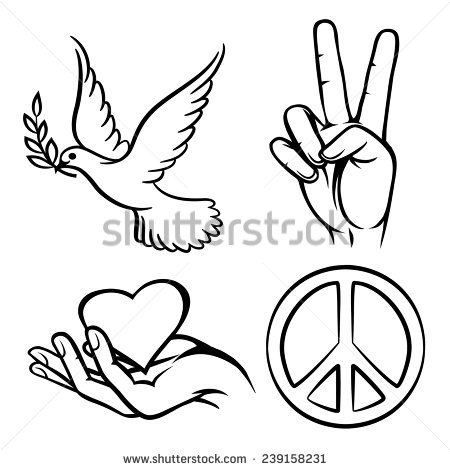 450x470 Peace Symbols. Two Thumbs Up. Dove Carriesn Olive Branch.nd
