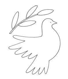 236x276 How To Draw A Dove Easy Black And White Dove (Line Drawing