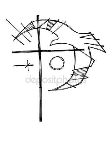 359x449 Christian Cross And Dove Symbol Stock Vector Bernardojbp