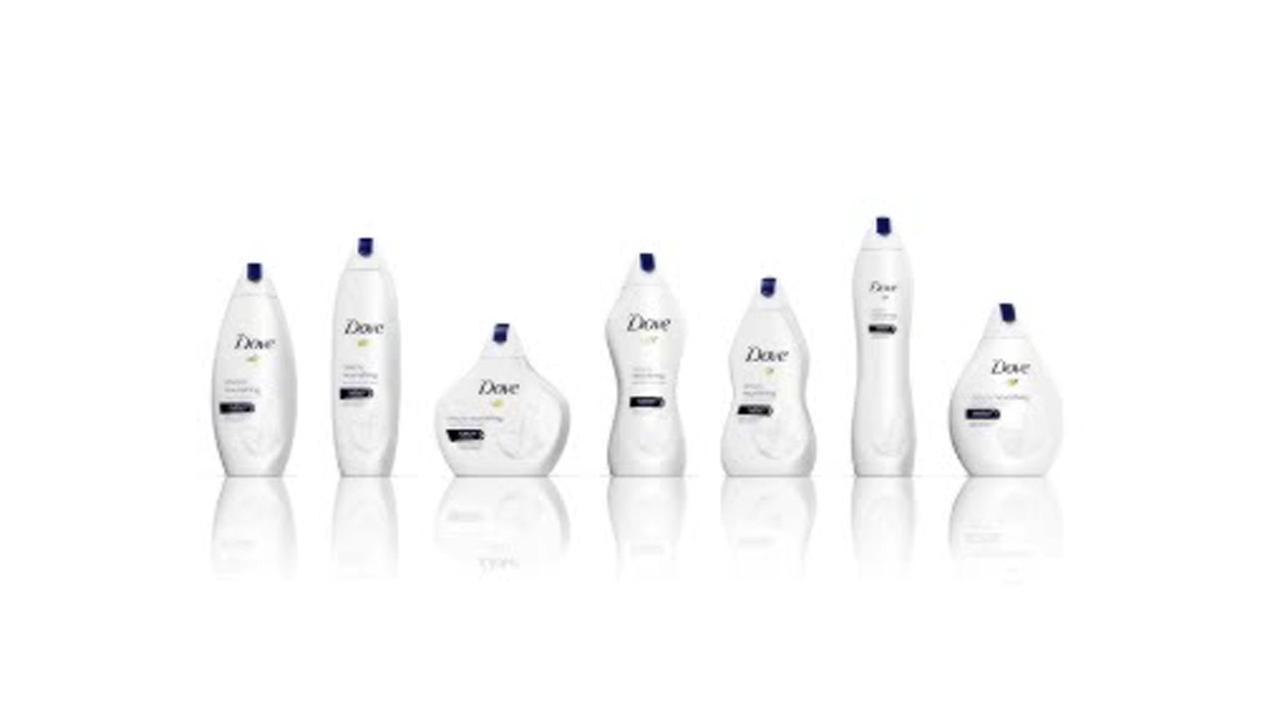 1280x720 Dove Body Wash's New Bottles Evoke Women's Body Shapes, Spark