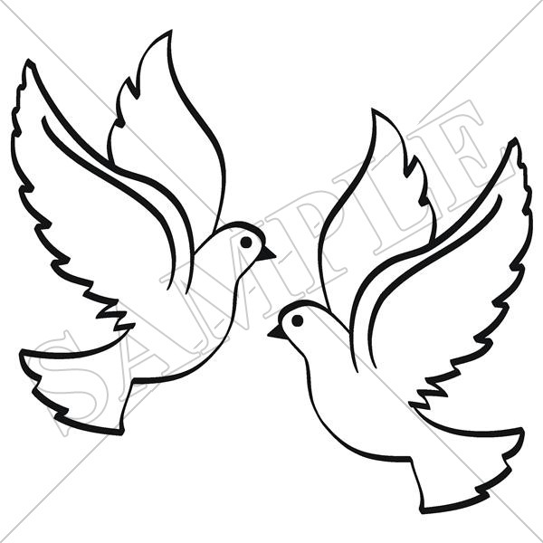 600x600 Gallery For Gt Doves Drawing Church Banners To Make