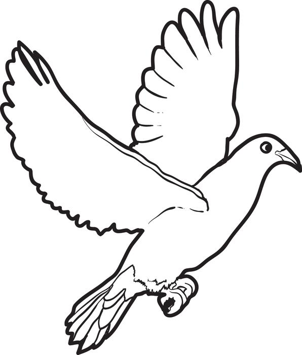 596x700 Great Dove Coloring Page 52 With Additional Characters Coloring