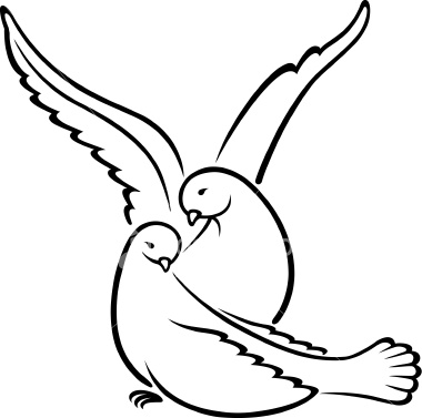 380x377 Two Dove Drawing