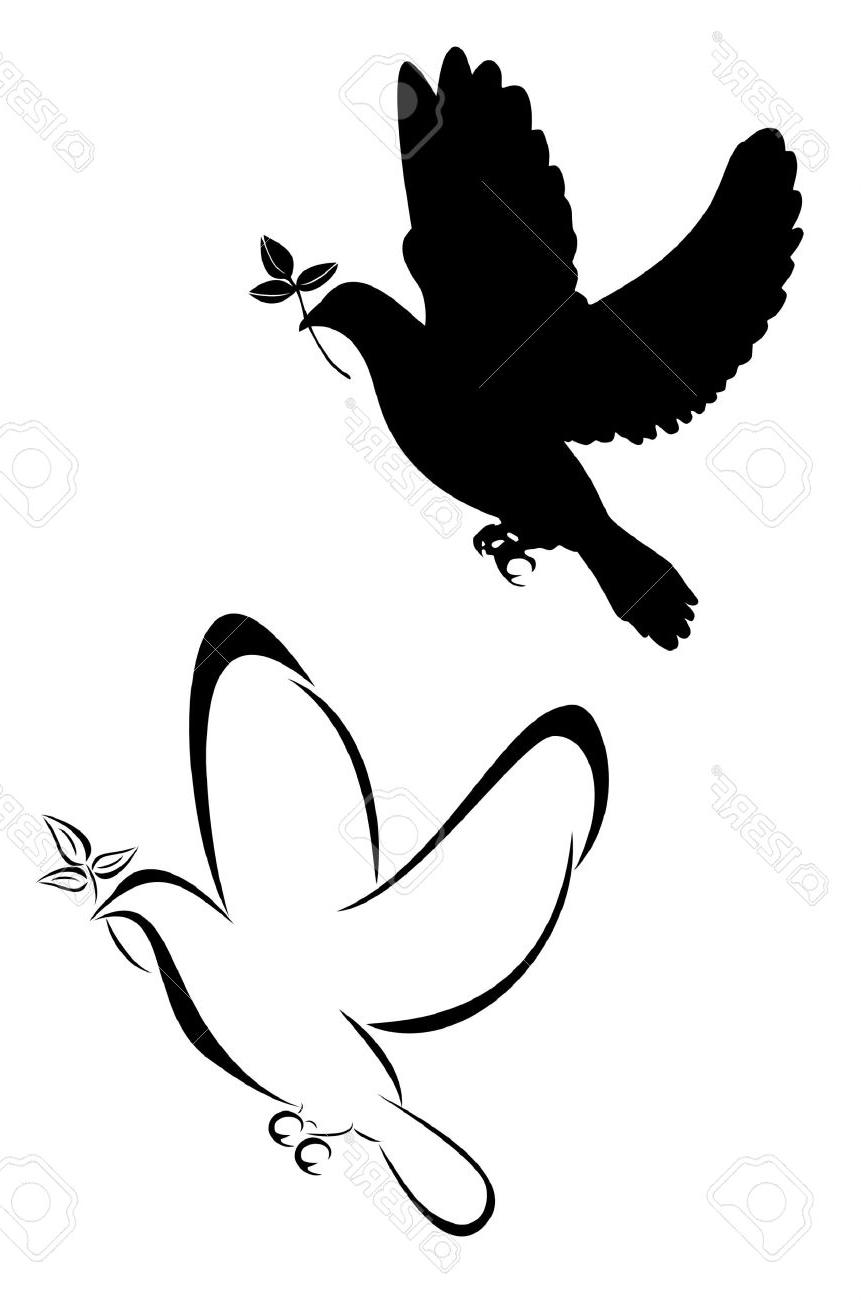 Dove drawing tattoo at getdrawings free for personal use dove 867x1300 hd set of two tribal dove tattoos stock vector tattoo file free voltagebd Images