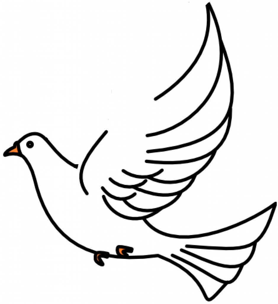 dove line drawing at getdrawings com free for personal use dove rh getdrawings com doves clipart free dove clipart holy spirit