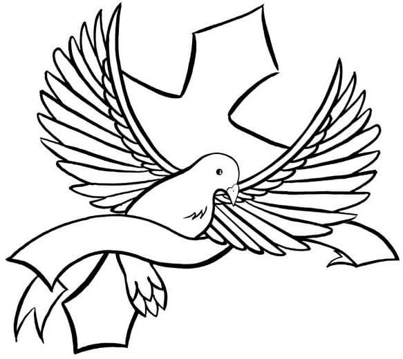 Dove outline drawing at getdrawings free for personal use dove 583x520 18 latest dove tattoo designs voltagebd Images