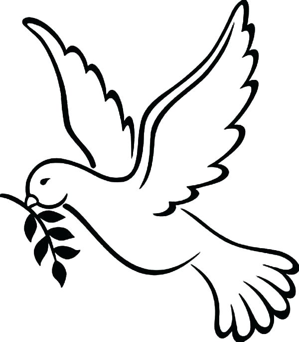 600x685 Dove Coloring Pages Dove Coloring Pages Printable Peace Dove