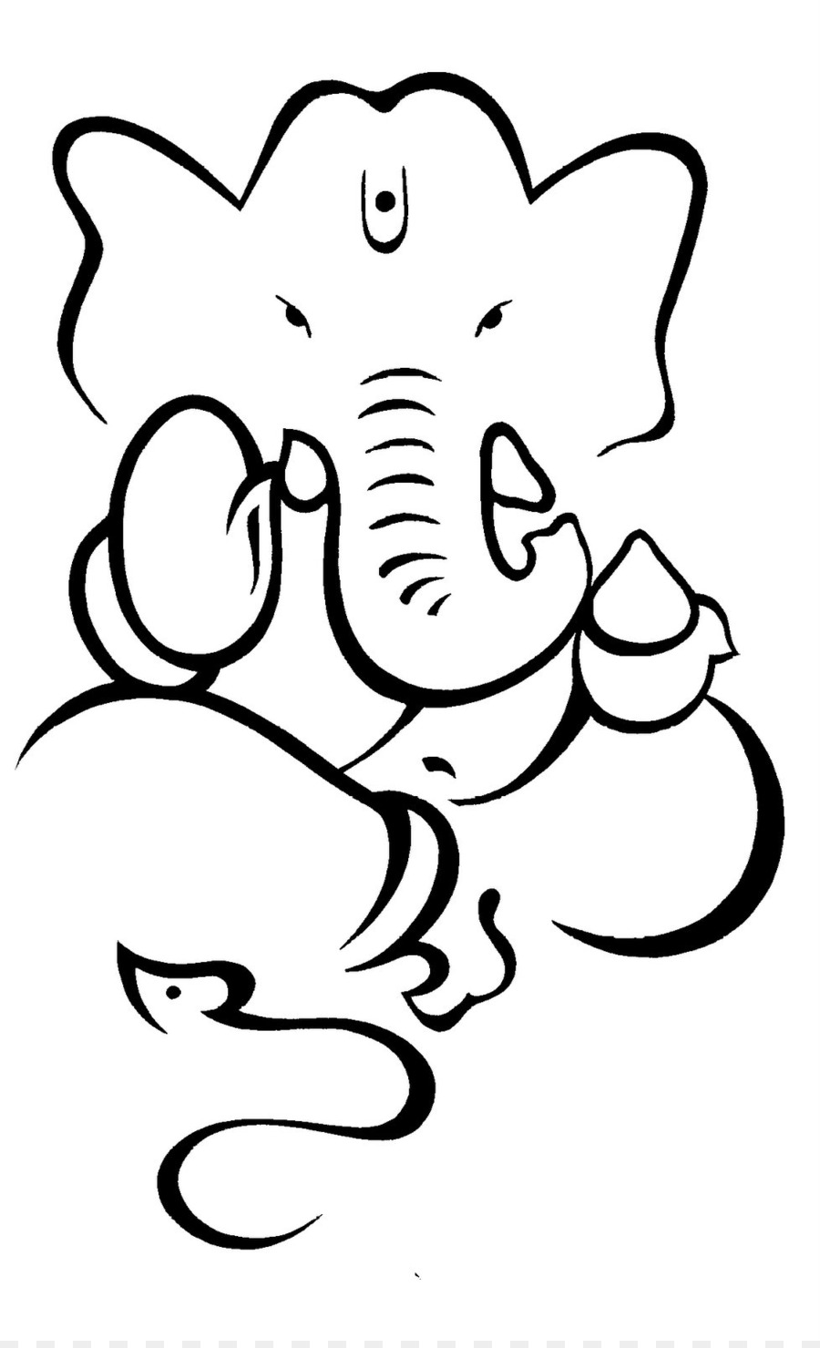 900x1480 Ganesha Drawing Sketch