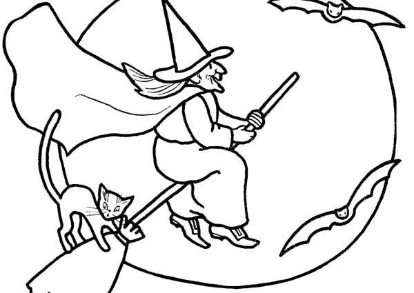 600x425 Halloween Drawings For Kids To Color Free Printable Halloween