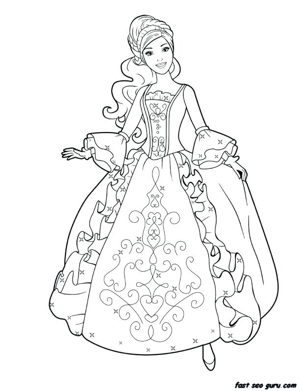 618x799 Barbie Princess Coloring Pages Drawing Barbie Princess Coloring