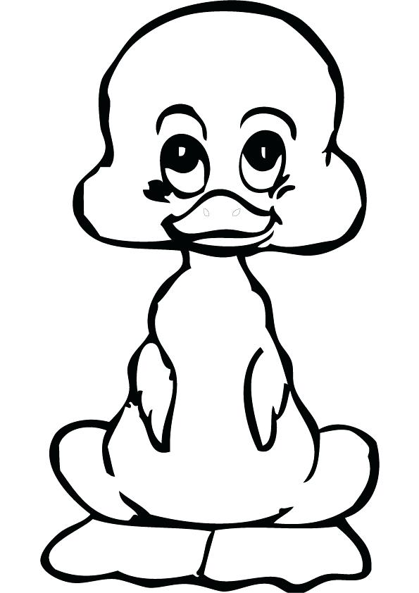 595x842 Duck Coloring Book And Download Free Baby Duck Drawing Page 16
