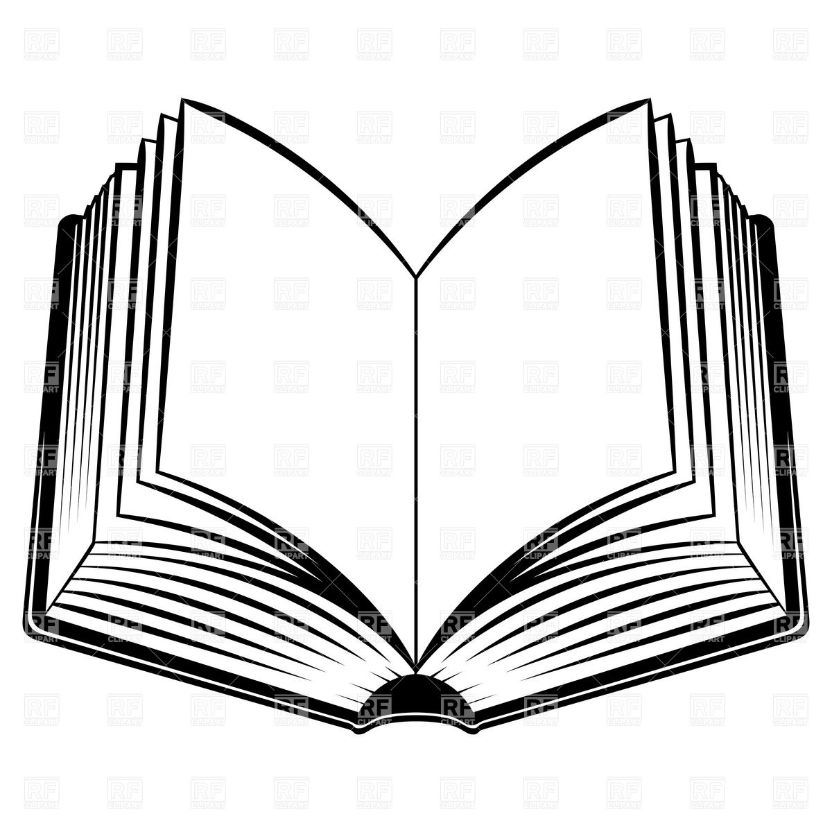 1200x1200 Simple Open Book Royalty Free Vector Clip Art Image
