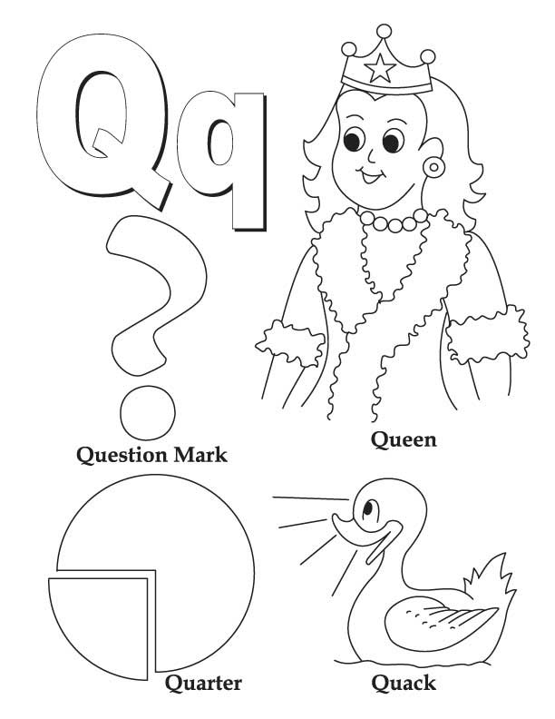 612x792 Unusual Letter Q Coloring Page My A To Z Book Download