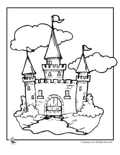 236x305 Castle Coloring Pages, Cartoon Disney Palace Drawing Just Free