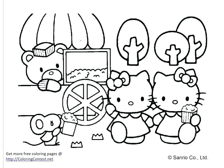 728x546 Hello Kitty Coloring Book 63 In Addition To Hello Kitty Drawing