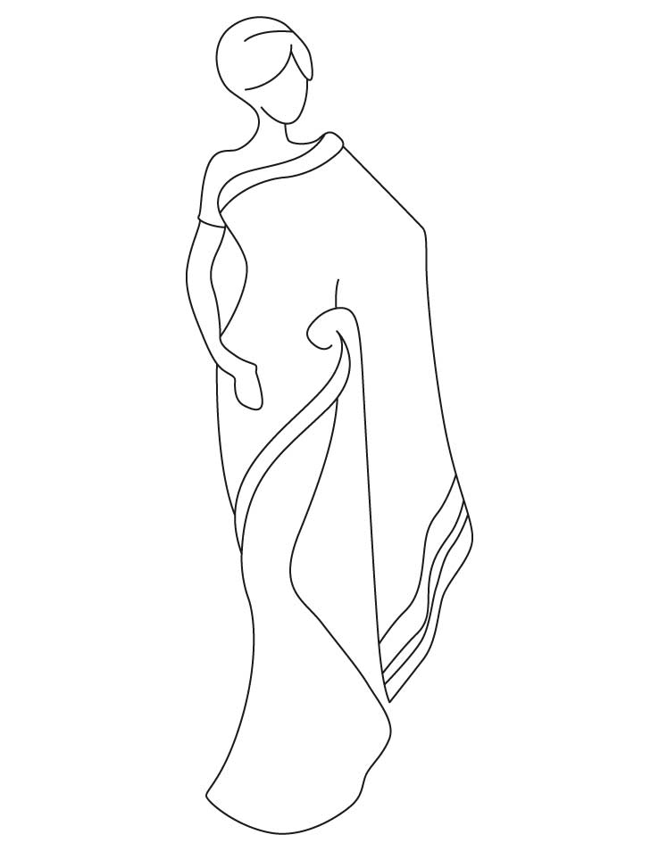 738x954 Saree Coloring Pages Download Free Saree Coloring Pages For Kids