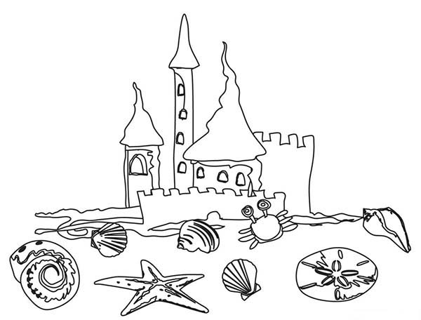 600x456 A Kids Drawing Of Beach Sand Castle Coloring Page