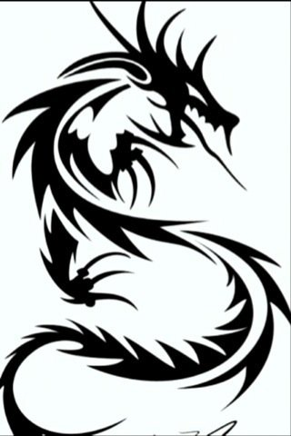 320x480 Dragon Black And White Dragon Black And White Drawing Clipart