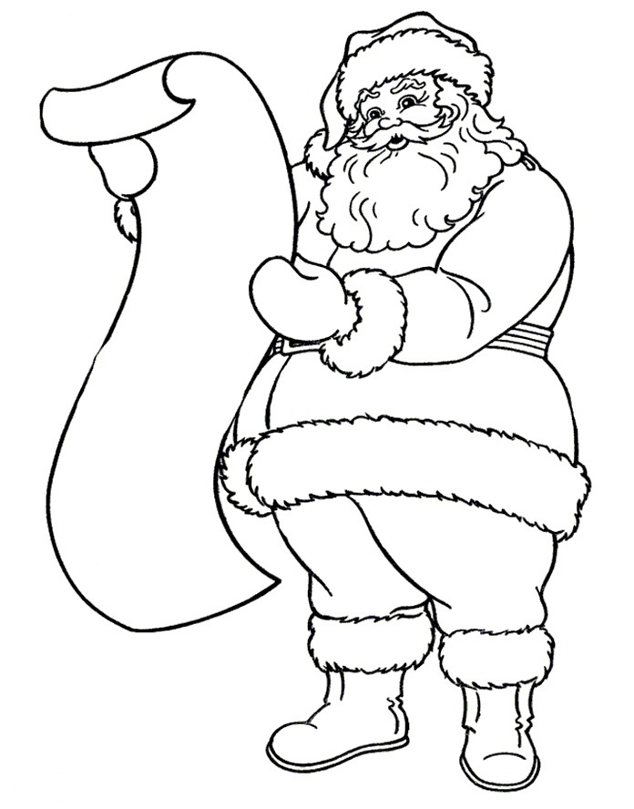 696x888 Santa Drawings Download And Print These Drawing Of Santa Claus