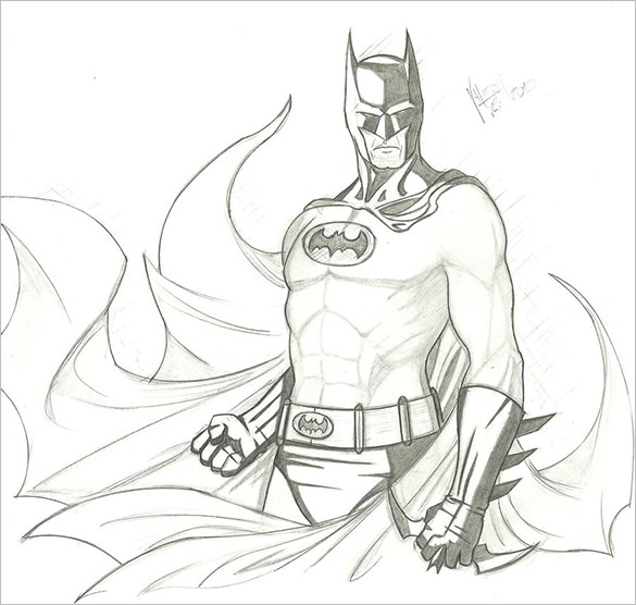 585x556 Fantastic Batman Drawings Download! Free Amp Premium Templates