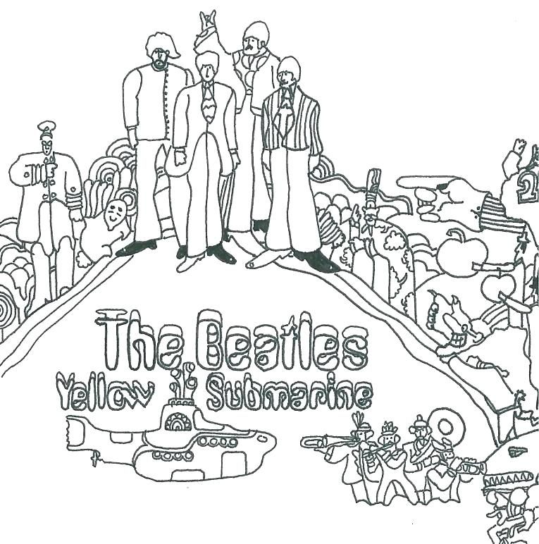 765x772 Yellow Submarine Coloring Pages Yellow Submarine Coloring Pages