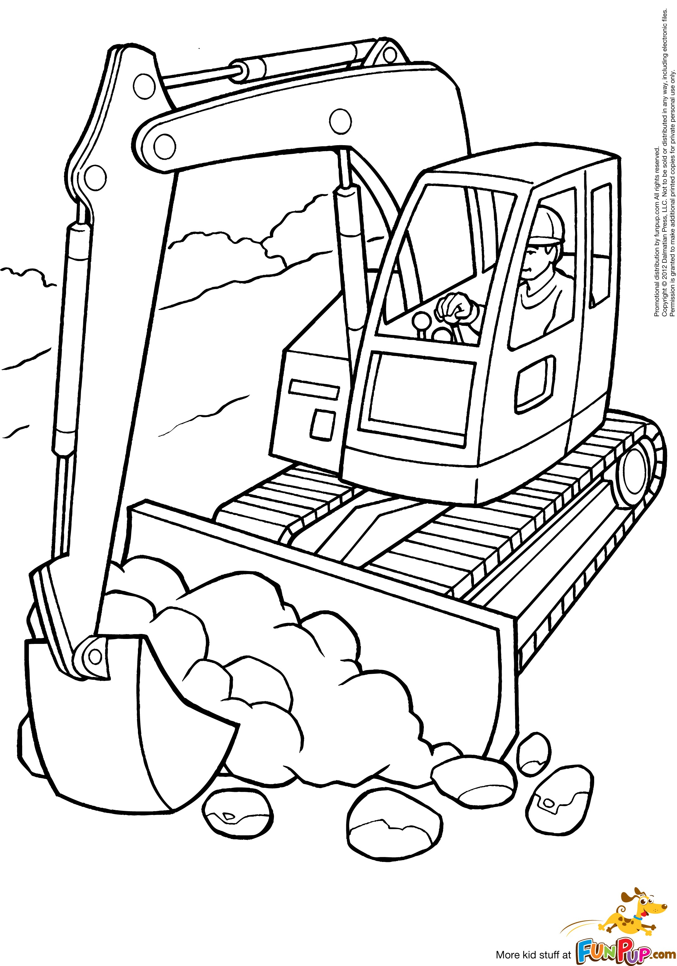 2174x3101 Free Bulldozer Coloring Pages