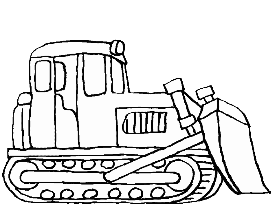 957x718 Free Printable Coloring Pages Bulldozer