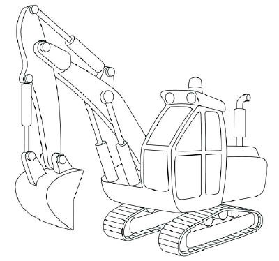 400x374 How To Draw Excavators In 11 Steps Color Sheets, Craft