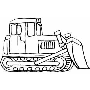 300x300 Standing Bulldozer Coloring Pages Craft
