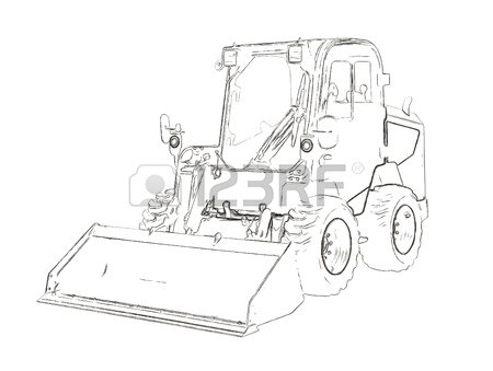 450x339 95 Small Bulldozer Stock Vector Illustration And Royalty Free